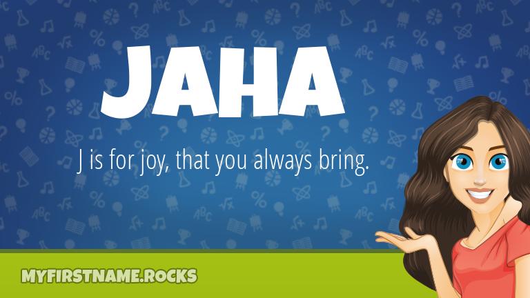 My First Name Jaha Rocks!