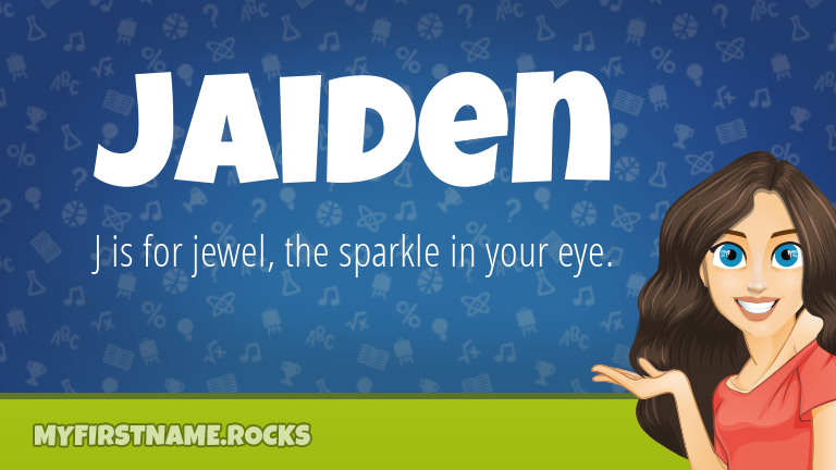 My First Name Jaiden Rocks!