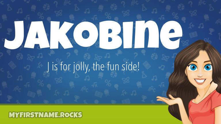 My First Name Jakobine Rocks!