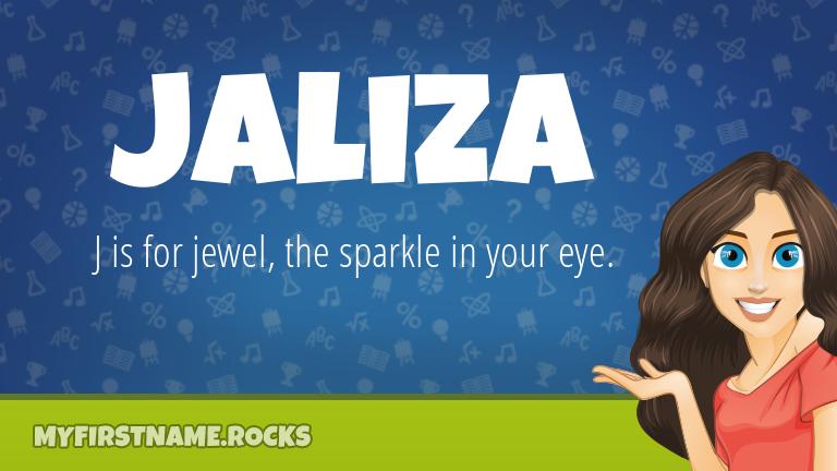 My First Name Jaliza Rocks!