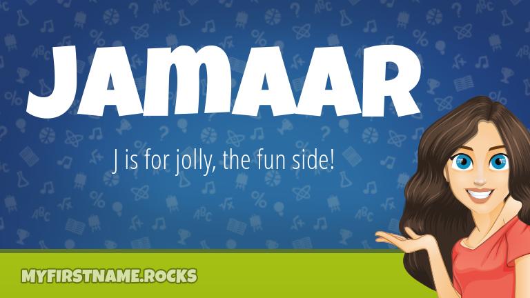 My First Name Jamaar Rocks!