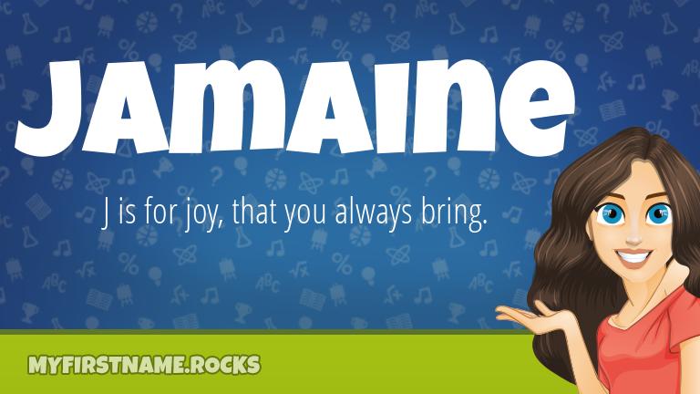 My First Name Jamaine Rocks!