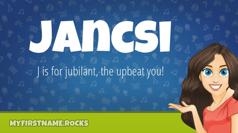 My First Name Jancsi Rocks!