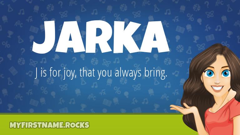 My First Name Jarka Rocks!