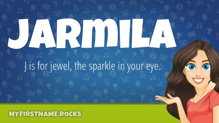 My First Name Jarmila Rocks!