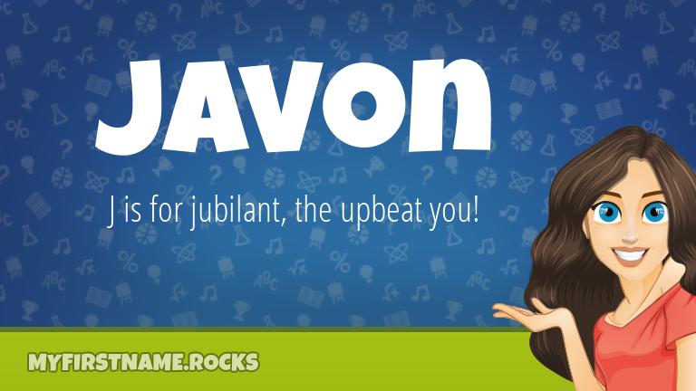 My First Name Javon Rocks!
