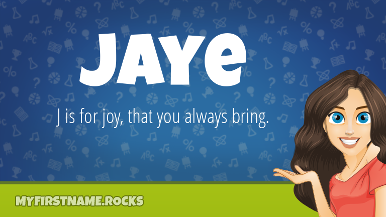 My First Name Jaye Rocks!