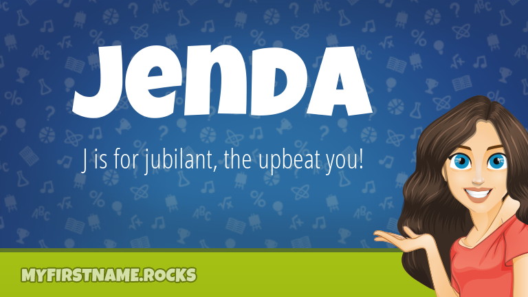 My First Name Jenda Rocks!