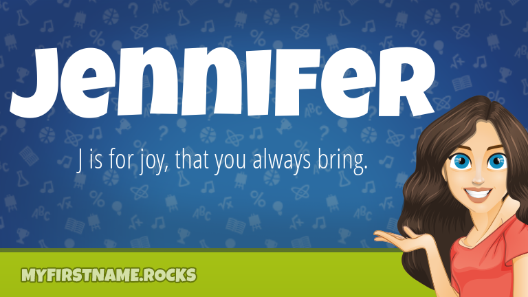 My First Name Jennifer Rocks!