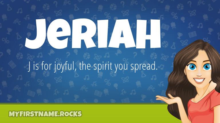 My First Name Jeriah Rocks!