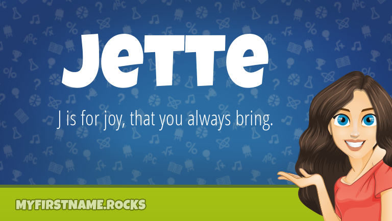 My First Name Jette Rocks!