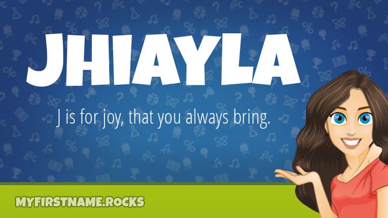 My First Name Jhiayla Rocks!
