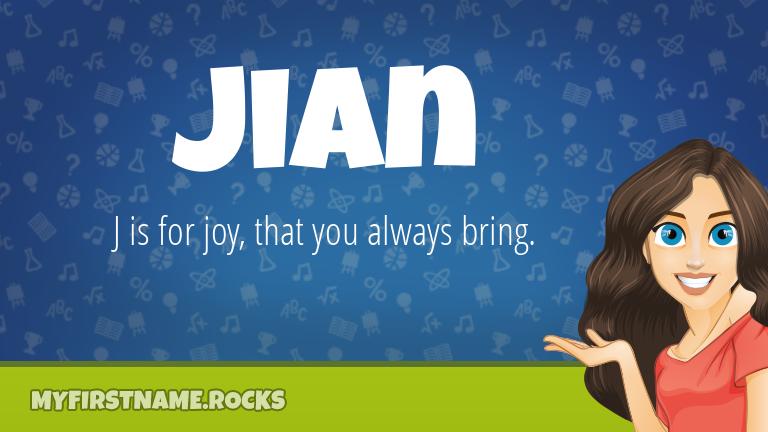 My First Name Jian Rocks!
