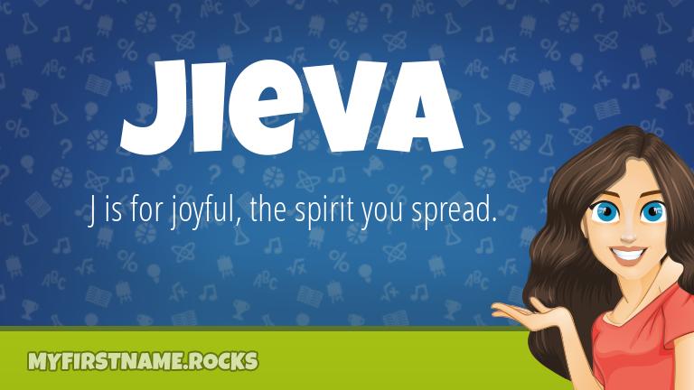 My First Name Jieva Rocks!