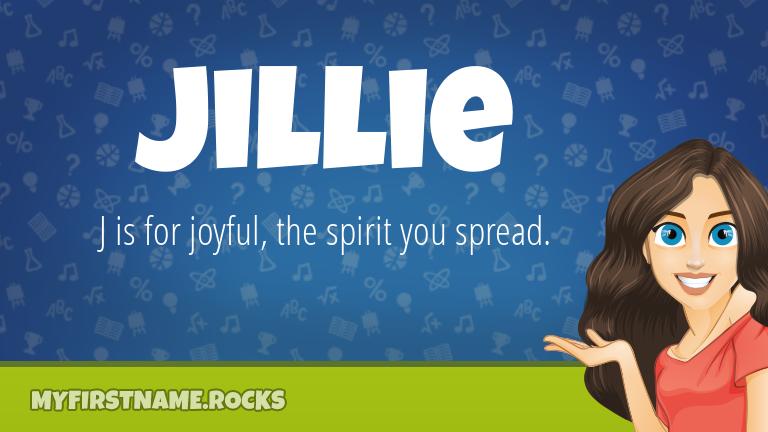 My First Name Jillie Rocks!