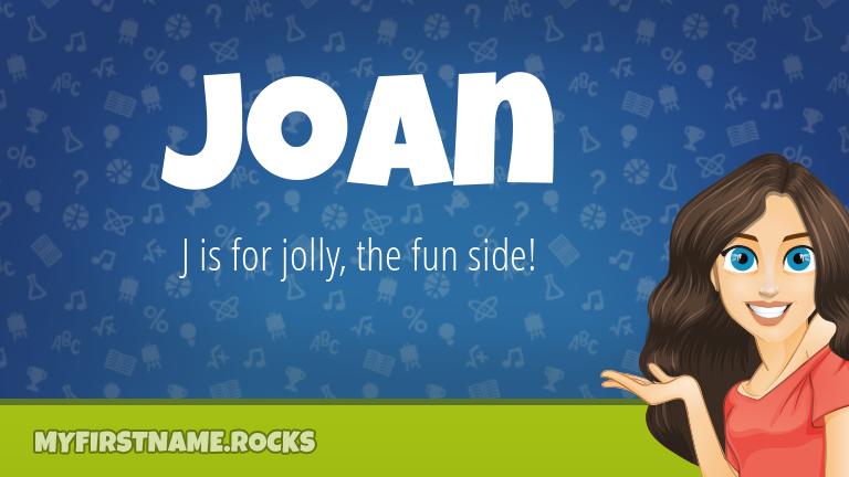 My First Name Joan Rocks!