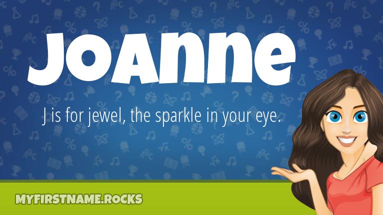 My First Name Joanne Rocks!