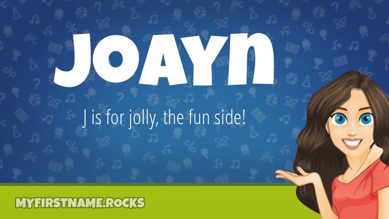 My First Name Joayn Rocks!