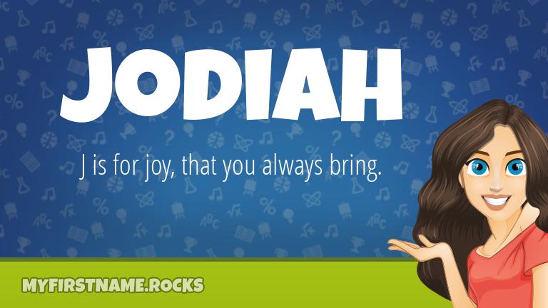 My First Name Jodiah Rocks!