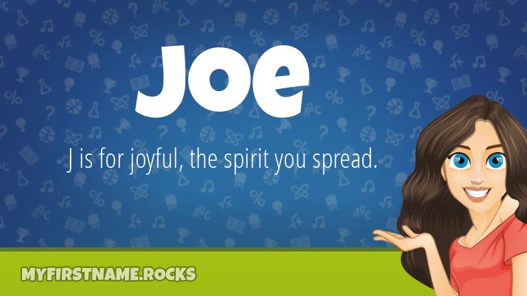 My First Name Joe Rocks!