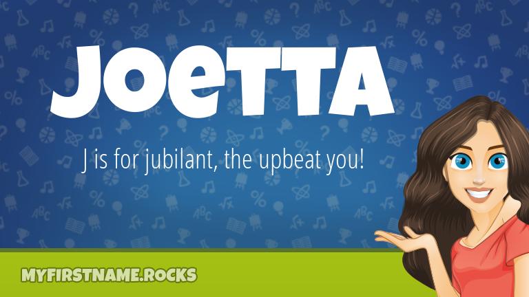 My First Name Joetta Rocks!