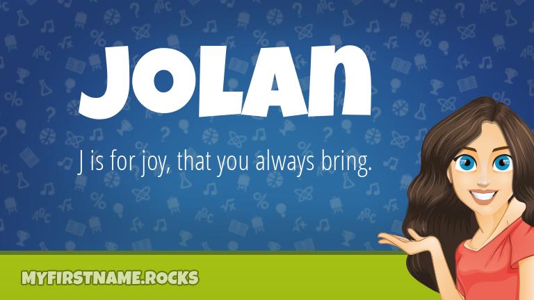 My First Name Jolan Rocks!