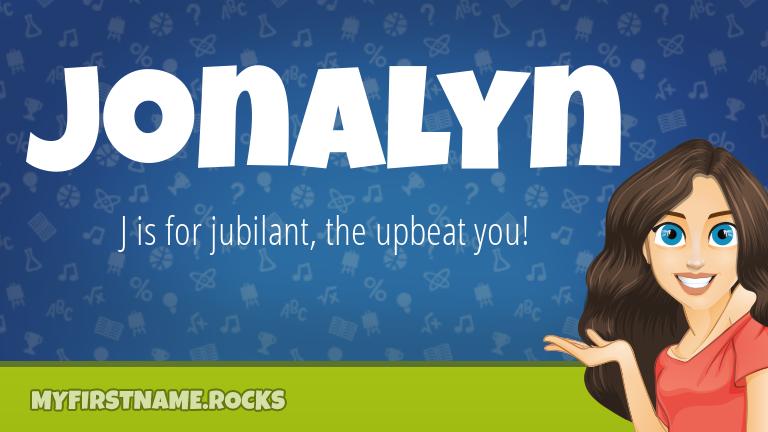 My First Name Jonalyn Rocks!