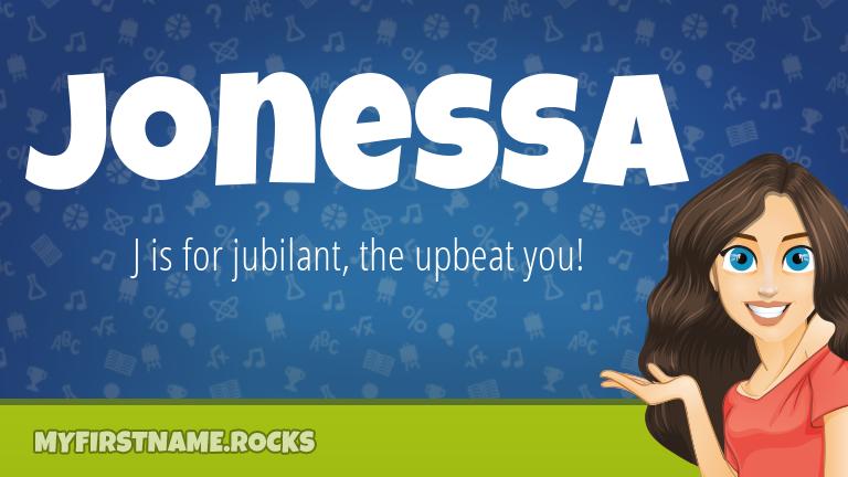 My First Name Jonessa Rocks!