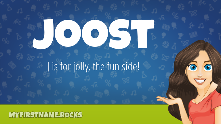 My First Name Joost Rocks!