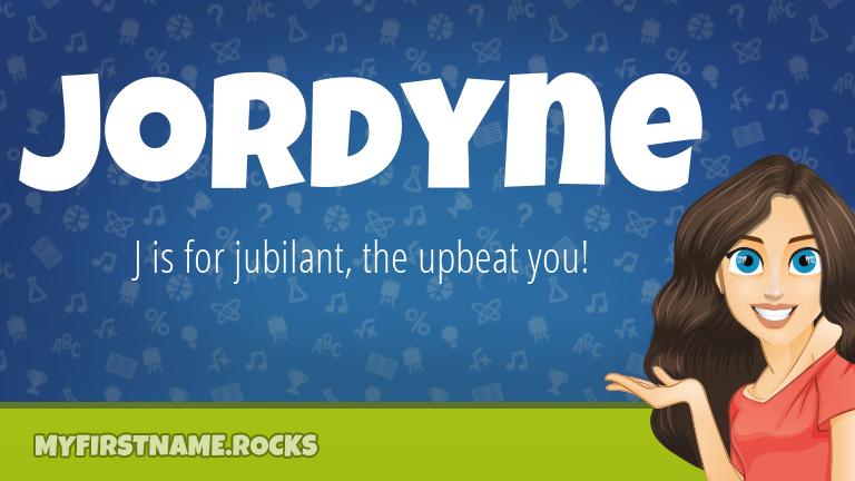 My First Name Jordyne Rocks!