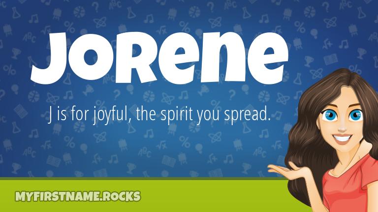 My First Name Jorene Rocks!