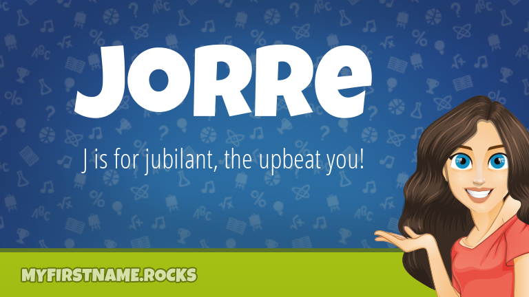 My First Name Jorre Rocks!