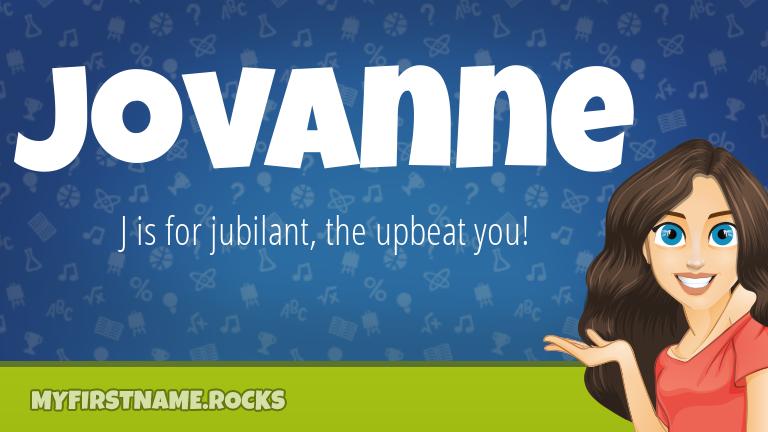 My First Name Jovanne Rocks!