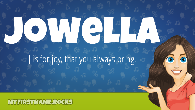 My First Name Jowella Rocks!