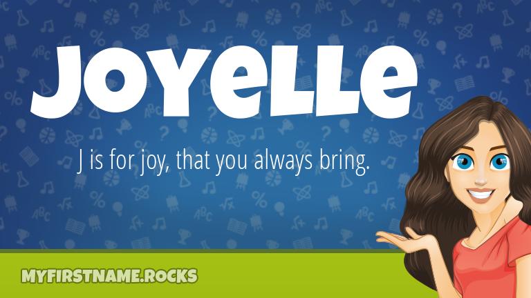 My First Name Joyelle Rocks!