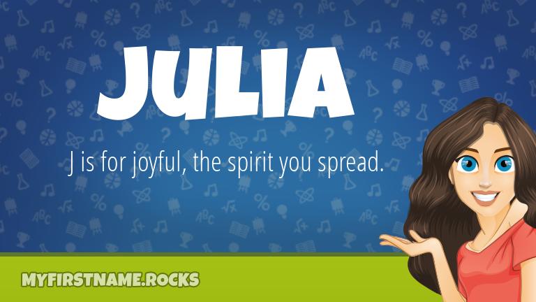 My First Name Julia Rocks!
