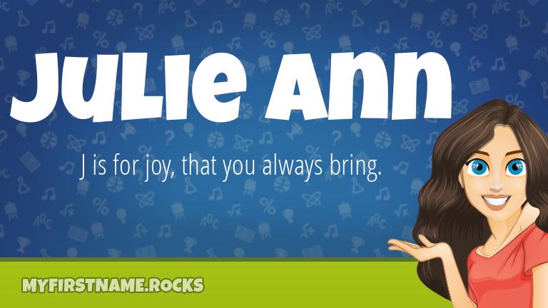 My First Name Julie Ann Rocks!