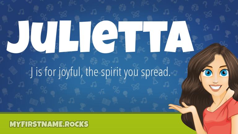 My First Name Julietta Rocks!