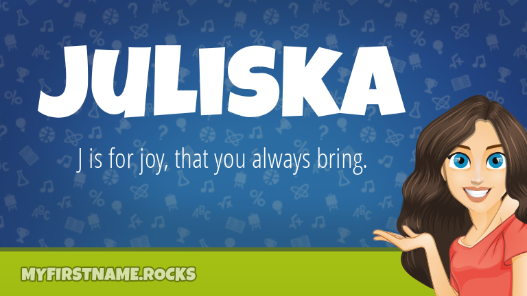 My First Name Juliska Rocks!