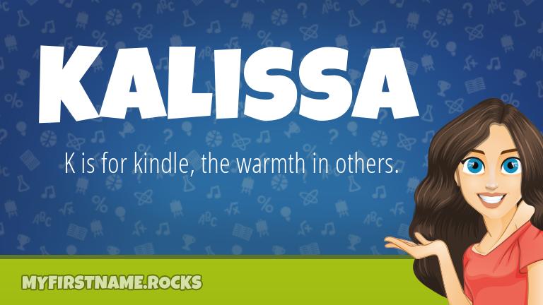 My First Name Kalissa Rocks!
