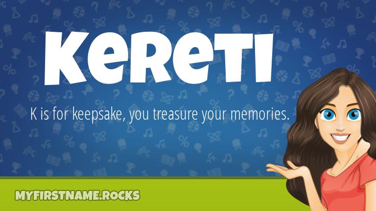 My First Name Kereti Rocks!