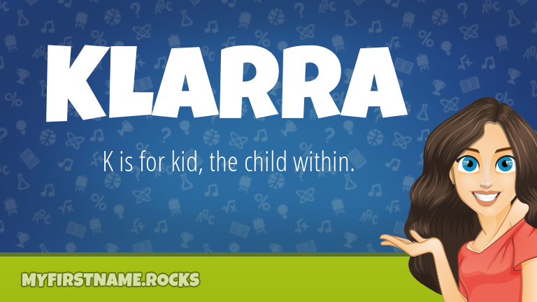 My First Name Klarra Rocks!