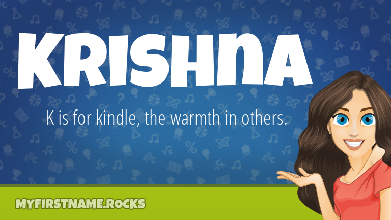 My First Name Krishna Rocks!