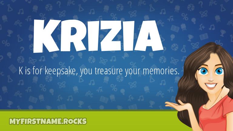 My First Name Krizia Rocks!