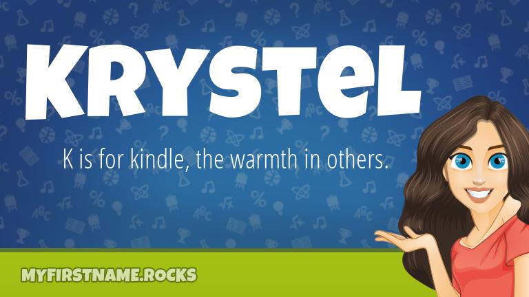 My First Name Krystel Rocks!