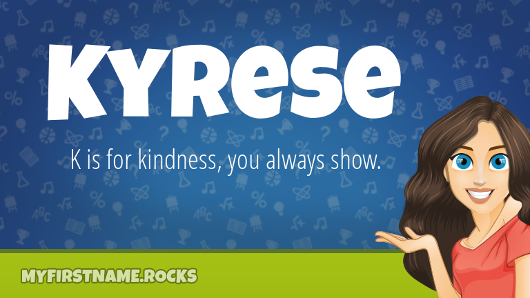 My First Name Kyrese Rocks!