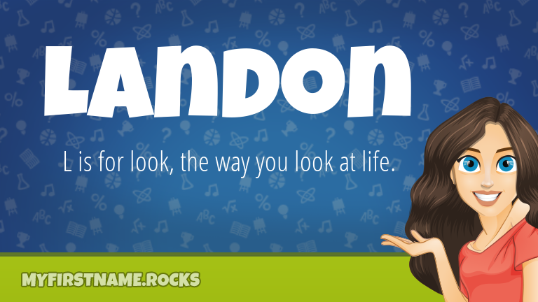 My First Name Landon Rocks!