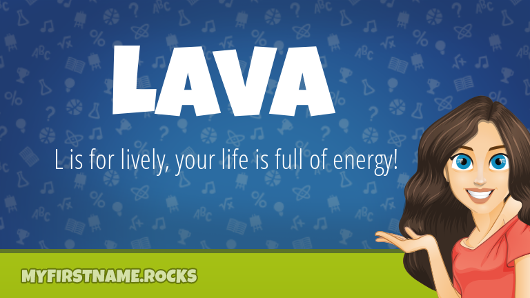My First Name Lava Rocks!