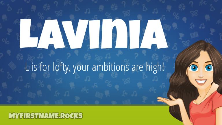 My First Name Lavinia Rocks!