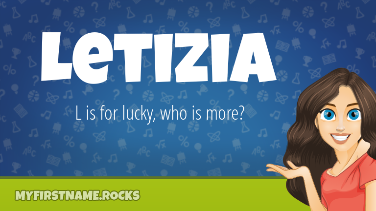 My First Name Letizia Rocks!